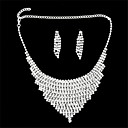 Jewelry-Necklaces / Earrings(Alloy / Rhinestone)Wedding / Party Wedding Gifts