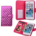 Lozenge PU Leather Purse Case for iPhone 4/4S (Assorted Colors)