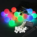 20-светодиодный Солнечная Power Ball Форма Фея Строка свет Лампа 9M Для декора