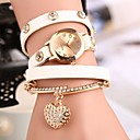 Fashion Winding Bracelet Watch Retro Heart Pendant  Student Watch(Assorted Color)