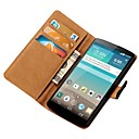 Genuine Leather Wallet Case for LG Optimus G3 D850 D855 with Stand and Card Slots