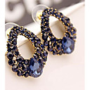 Baroque Large Droplets Personality and Temperament Diamond Earrings