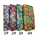 The Colored Dots Pattern PU Leather Full Body Case with Stand for iPhone 5(Assorted Colors)