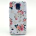 For Samsung Galaxy Case Pattern Case Back Cover Case Flower PC Samsung S5
