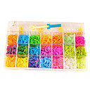 Kits for Rainbow Colorful Loom(Rubber Band 2100PCS、2 Crochet Hooks、Two Bags Of S Hooks)