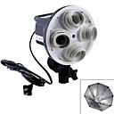 FUSHI Tong 4linking lampholdersTL-V Fill Light Softbox Video Light Continuous Light Head-Black+White