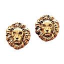 Европейский (Голова льва) Сплав серебра Серьги (Золотой, Серебряный, Бронзовый) (1 пара)