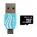 PNY On-The-Go MicroSDHC Card Reader USB 32GB OTG Flash Drive