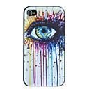 Красочные заставки чернил шаблон живопись глаз PC Жесткий задняя обложка чехол для iPhone 4 / 4S