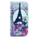 Цветок Эйфелева башня шаблон PU кожаный чехол с подставкой и слот для карт LG G2