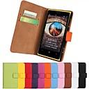 Твердые Цвет.шаблон футляр из натуральной кожи всего тела с подставкой и слот для карт Nokia Lumia 1020