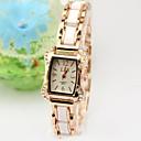 Женская корейской моды розовое золото High-Grade Леди Бизнес Кварц Горный хрусталь браслет Таблица