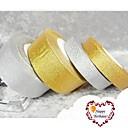 25 ярдов 15mm Широкий Gold или Silver Glitter Блестящий Лента, Свадеб DIY Блеск Блестящий Лента
