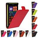 Флип-Open Верховая Зерно Кожа PU Полный чехол для тела для Nokia Lumia 520 (разных цветов)