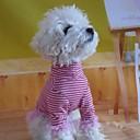 Симпатичные Stripes Pattern рубашка с высоким воротником для животных Собаки (разных размеров)