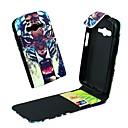 Яркие Тигры Pattern PU кожаный чехол для всего тела для Samsung Galaxy ACE 4 G313H