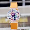 Женская Магия цвета прозрачный пластиковый Часы Циркуляр высококачественной японской Движение Часы