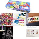 Rainbow Color Fashion Loom Kit for DIY Bracelet(600PCS Bands+1 Package Clips+1 Loom Board+1 Hook)