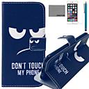 Коко FUN Не прикасайтесь Pattern PU кожаный чехол с защитой экрана и USB-кабель и стилус для iPhone / 6S 6