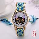2 015 женщин Часы наручные женские Золотые кварцевые часы Женева ручной Weave Плетеный браслет XR1244