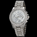 Women's Fashion Geneva Quartz Watch Sparkle Crystal Steel Strap