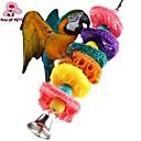FUN животных Красочные Rope мочалку Жевательная Лота с бисером для птиц