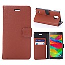 New Litchi Pattern PU Leather Full Body Cases Phone Protective Shell with Card Bag for Samsung Galaxy Note 3 4