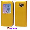 2 015 новых Флип стекла крышка Жирная кожа Симпл ПУ мобильного телефона оболочки для Samsung S6 Ассорти цвета