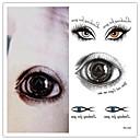 5шт Хэллоуин Террорист шаблон глаз татуировки водонепроницаемый временную татуировку на теле Наклейка