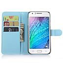 Личи зерна Флип кожаный бумажник чехол Подставка Чехол для Samsung Galaxy J7 / J5 / J1 / E7 / E5 Мобильный телефон сумка