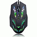 Rajfoo I5 Mouse USB Wired Optical Mouse Luminescent Game