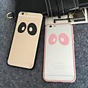 Пара Большого глаза, полные простой прозрачный Soft Shell для iPhone Упаковки 5 / 5S (разных цветов)