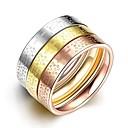 Paar / Unsex Eheringe,Schmuck Golden / Silber / Rotgold Modisch Hochzeit / Party / Alltag / NormalZirkon / Titanstahl / vergoldet / Rose