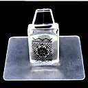 1set del clavo conjunto de herramientas de uñas transparente cuadrada
