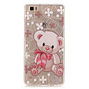 Transparent Colored Teddy Bear Pattern TPU Soft Case Phone Case For Huawei P8 Lite