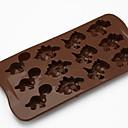 12-Loch sogar Schokolade Silikonform DIY Silikonform Schokoladenkeksen kleine Dinosaurier d-317 5pcs