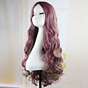 fahion krullend golf haar pad paarse anime cospaly pruik 70cm jonge lange synthetische pruik perruque peluca Peruca lolita pruik