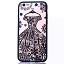 Wedding Dress Pattern Embossed Printing Transparent Hollow Acrylic Material TPU Phone Case for iPhone  6S 6plus SE 5S