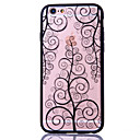 Tree Flower Pattern Embossed Printing Transparent Hollow Acrylic Material TPU Phone Case for iPhone  6S 6plus SE 5S