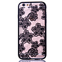 Lace Pattern Embossed Printing Transparent Hollow Acrylic Material TPU Phone Case for iPhone  6S 6plus SE 5S