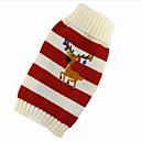 honden Smoking / Pyjama Blauw / Wit Hondenkleding Winter / Lente/Herfst Cartoon Sportief / Kerstmis / Nieuwjaar /