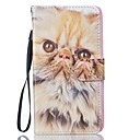 For Samsung Galaxy J5 J5(2016) Cat PU Leather Wallet
