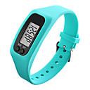 Men's Women's Sport Watch Wrist watch Digital LCD Pedometer Colorful Rubber Band Black White Blue Green Yellow Rose