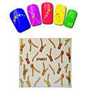 1sheet  Gold Nail Stickers XF6021