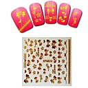 1sheet  Gold Nail Stickers XF6024