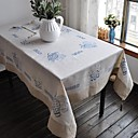 Embroidered Tablecloth Classical Linen Tablecloth Vintage Vase Table Cover 110x110cm For sale