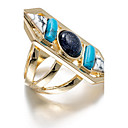 Ring Euramerican Daily Jewelry Alloy Ring 1pc,One Size Multi Color