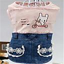 Hunde Kleider Hundekleidung Frühling/Herbst Karton Niedlich Grün Rosa