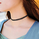 Women's Choker Necklaces Jewelry Single Strand Fabric Basic Euramerican Fashion Personalized Simple Style Jewelry ForParty Special