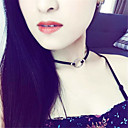 Women's Choker Necklaces Jewelry Single Strand Fabric Alloy Basic Euramerican Fashion Personalized Simple Style Jewelry ForParty Special